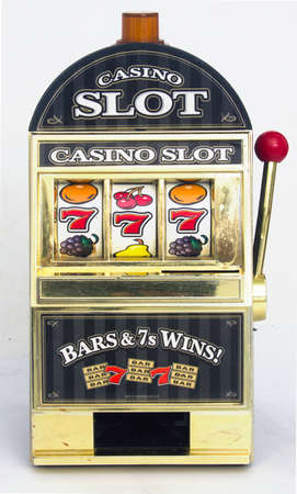 casino slot machine close up  Stock Photo