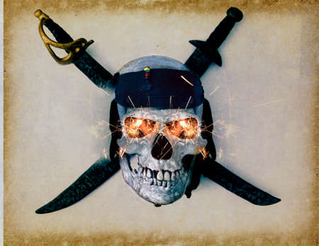 skull and crossbones  from above  Stock Photo