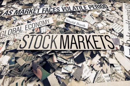 het nieuws (krantenconcept) Stockfoto