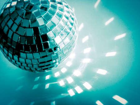 blue disco ball  close - up