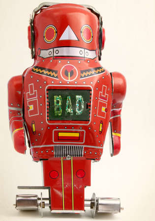 big red bad bot  looking at you  Stock fotó