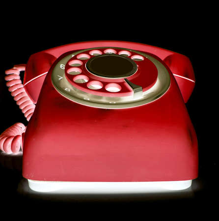 retro red phone  abstract  light Stock Photo