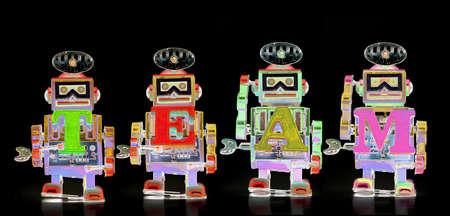 surrealistic robot toys TEAM bots  abstract image Stock fotó
