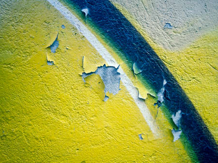 old wall texture  color yellow  peeling paint Imagens