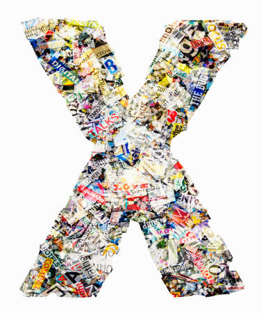 Letters made from newspaper Imagens - 117349148