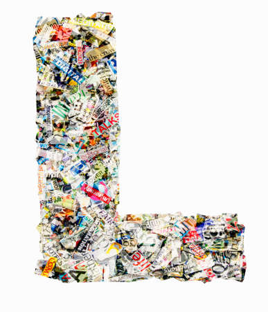 Letters made from newspaper Imagens - 117349161