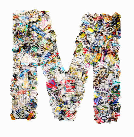 Letters made from newspaper Imagens - 117349162