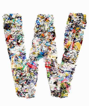 Letters made from newspaper Imagens - 117349186