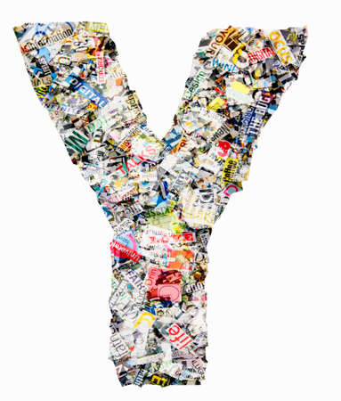 Letters made from newspaper Imagens - 117349188