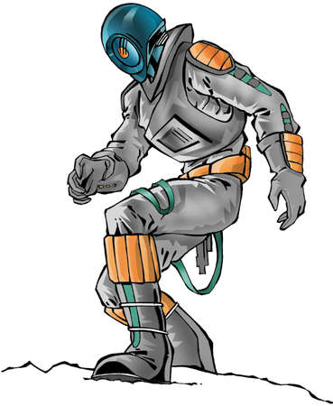 spacesuit: A astronaut with spacesuit Stock Photo