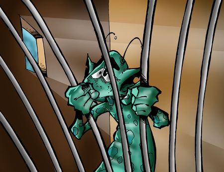Virus in a jail photo