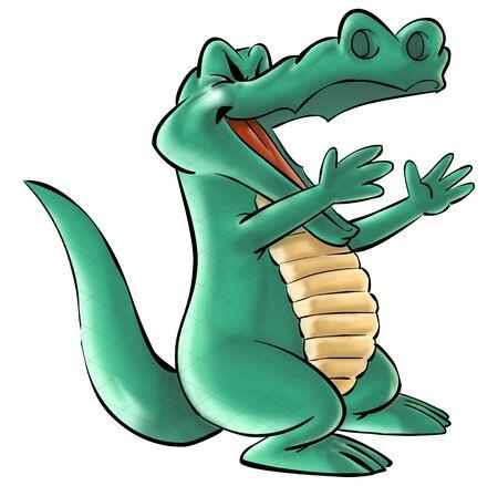 a happy crocodile
