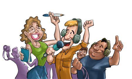 rec: una squadra felice di giornalisti
