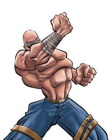 brawl: I got power Stock Photo