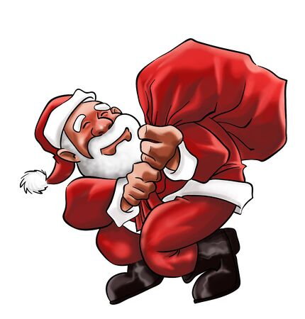 Santa Claus smiling with a big bag Stock Photo - 7726765