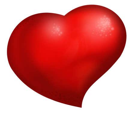 Big red heart Standard-Bild - 7726763