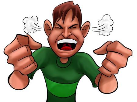 annoying: Guy zbyt wściekła zielony bluzki