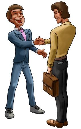 buen trato: dos trabajadores haciendo mucho entre ellos