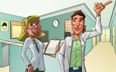 medics in a hotpital, they look happy Stock Photo - 10115569