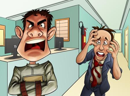 enfermedades mentales: dos hombres obtener locos en el hospital