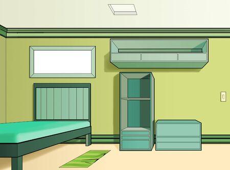 children bedroom painted in green Stock Photo - 10319071