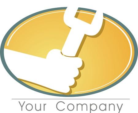 overhaul: un logo per la vostra azienda sul posto di lavoro. Vettoriali