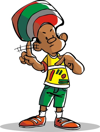 jamaica: A beautiful and smart boy from brazil