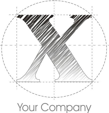 a line X logo Vector