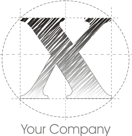 paper spell: a line X logo