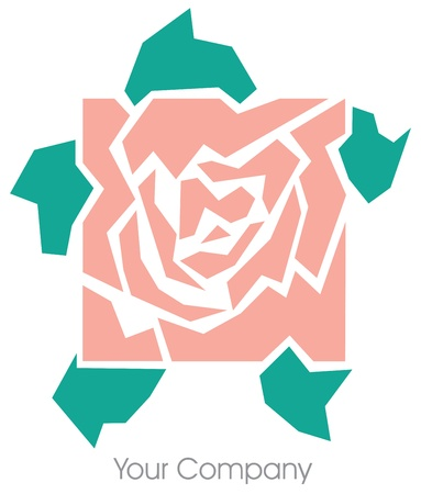 A square rose logo Vector