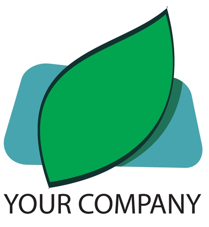 goodluck: A green leaf logo for your company Illustration