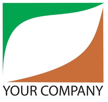 your logo: A green leaf logo for your company Illustration