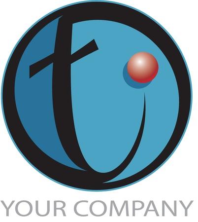 Technology logo T Vector