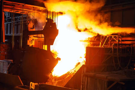 smelting of the metal in the foundry, Metallurgical industry.