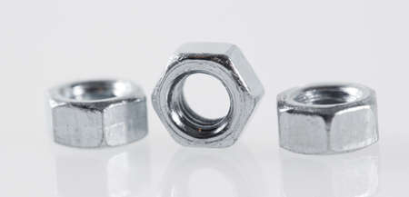 metal nuts tool on white background