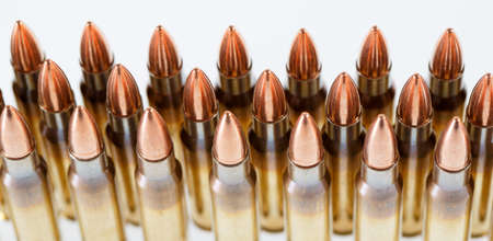 Hunting cartridges of caliber. 308 Win, weapon concept