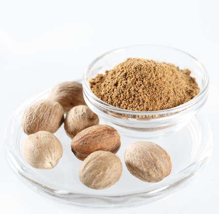 Nutmeg Isolated on the white background