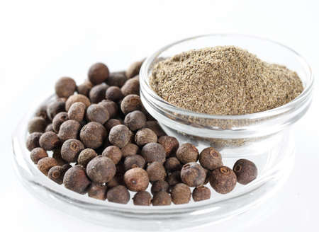Ground Black Pepper Isolated in white