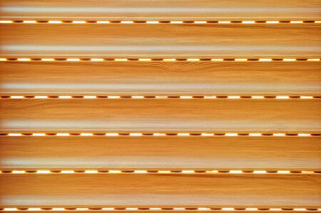 integrated blind imitation wood brown aluminum