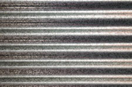 zinc galvanized corrugated metal texture horizontal and background