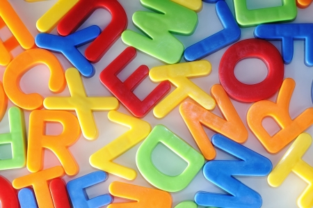 colorful letters. childhood education teaching. photo