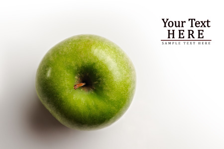juicy apple top view with room for text Stock Photo