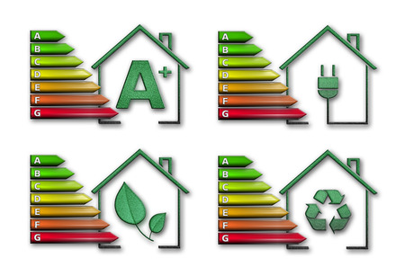 four graphical representations of energy efficiency
