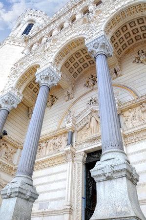 view of the basilica notre dame de fourviere