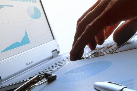 backlit keyboard: analyst working on a keyboard backlit