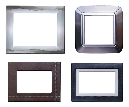 Silver Modern Picture Frames On Four Modern Picture Frames Packsilveraluminumleather And Plastic Stock Photo Modern Picture Frames Packsilveraluminumleather And Plastic
