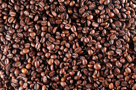 Background of a group of roasted coffee
