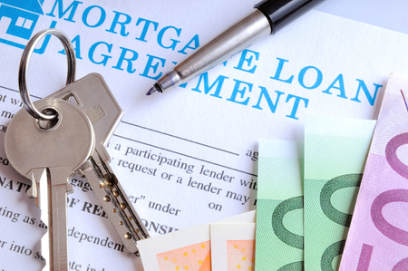 mortgage document: Payment and receipt of keys and mortgage loan agreement