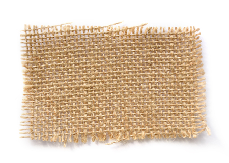 sew tags: Brown burlap label textured with sade