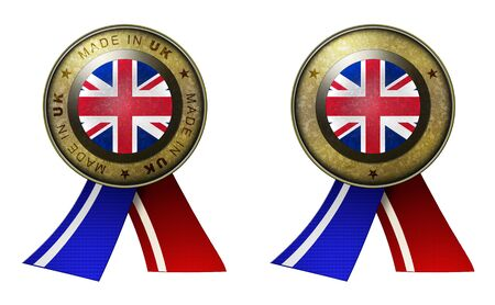 distinguish: Decoration or metallic gold seal with tape to distinguish original products from UK. Set of 2 seals Made in message, and blank.